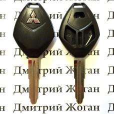 Корпус авто ключа для Mitsubishi (Митсубиси) 2+1 - кнопки