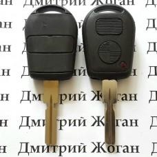 Корпус авто ключа для BMW E34 (БМВ) 2 кнопки, лезвие HU58