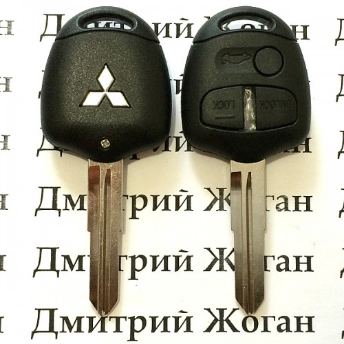 Корпус авто ключа для MITSUBISHI Lancer, Outlander (Митсубиси Ланцер, Аутлендер) 3 - кнопки, лезвие MIT11R