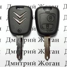 Корпус ключа для Citroen (Ситроен) 2 ― кнопки, лезвие NE73