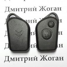 Корпус пульта Citroen (Ситроен) - 2 кнопки