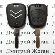 Корпус ключа для Citroen (Ситроен) 2 - кнопки, лезвие NE78