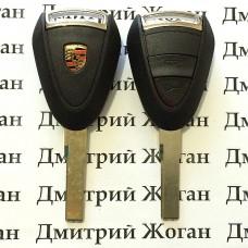 Корпус автоключа для Porsche (Порше) 2 кнопки, лезвие HU66