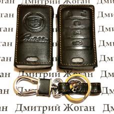 Чехол (кожаный) для смарт ключа Cadillac (Кадиллак) 5 кнопок