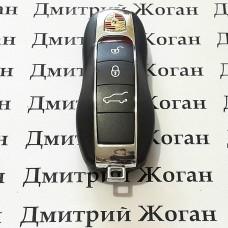 Оригинальный смарт ключ для Porsche (ПОРШЕ) 3 кнопки чип ID49, HITAG PRO, 433 Mhz