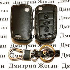 Чехол (кожаный) для автоключа Seat (Сеат) 3 кнопки