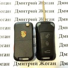 Корпус выкидного автоключа для Porsche (Порше) 3 кнопки