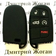 Чехол (силиконовый) для авто ключа Jeep, Dodge, Chrysler (Джип, Додж, Крайслер) 4 кнопки + 1