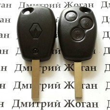 Корпус для автоключа RENAULT Kangoo, Master (Рено Канго, Мастер) - 3 кнопки лезвие VA2