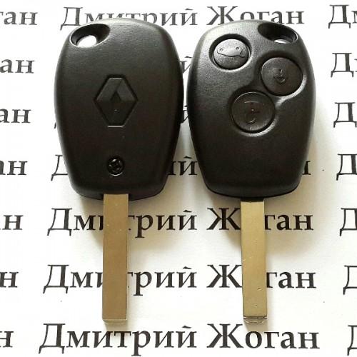 Корпус автоключа RENAULT Kangoo, Master (Рено Канго, Мастер) - 3 кнопки лезвие VA2