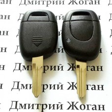 Корпус ключа для Renault Master,Kangoo (Рено Мастер,Канго)  1 - кнопка, лезвие VAC102