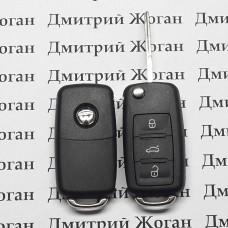 Корпус выкидного автоключа для VOLKSWAGEN (Фольксваген) с 2010 года, 3 - кнопки