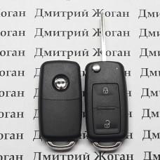 Корпус выкидного автоключа для VOLKSWAGEN (Фольксваген) с 2010 года, 2 - кнопки