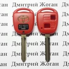Корпус автоключа для Toyota (Тойота) 2 кнопки, лезвие TOY 43