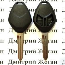 Корпус авто ключа Mitsubishi (Митсубиси) 2 - кнопки