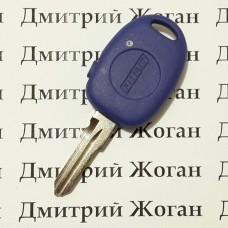 Корпус для автоключа Fiat Multipla, Marea, Bravo (Фиат Мультипла, Мареа, Браво) 1 кнопка, с лезвием GT15