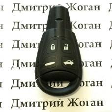 Оригинальный ключ SAAB (Сааб) 4 кнопки, c частотой 433 MHz
