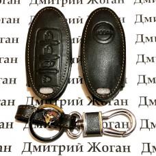 Чехол (кожаный) для смарт ключа Nissan (Ниссан) 4 кнопки