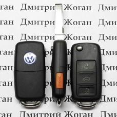 Корпус выкидного авто ключа Volkswagen Touareg (Фольксваген Туарег) - 3  + 1 кнопка