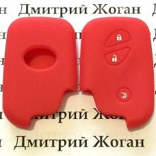 Чехол (силиконовый) для смарт ключа LEXUS (Лексус) 3 кнопки