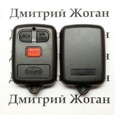 Корпус пульта сигнализации для BYD (БИД), 3 кнопки